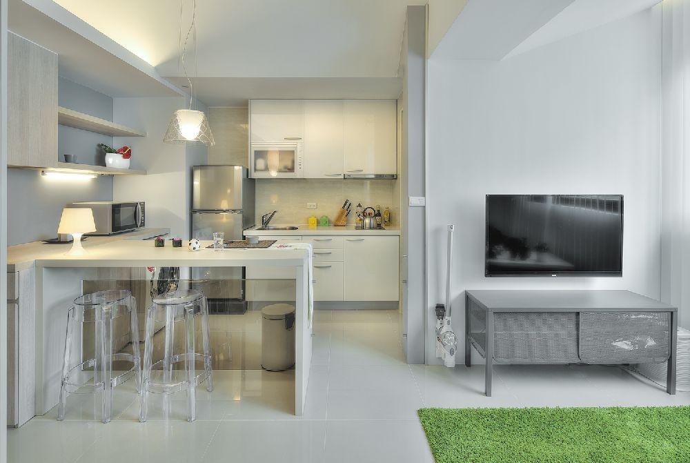adelaparvu.com despre garsoniera 32 mp cu pat si loc de canapea, design interior CloudPen, Foto CloudPen (8)