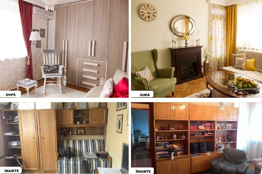 adelaparvu.com despre amenajare apartament 3 camere, inainte si dupa, designer Adriana Croveanu
