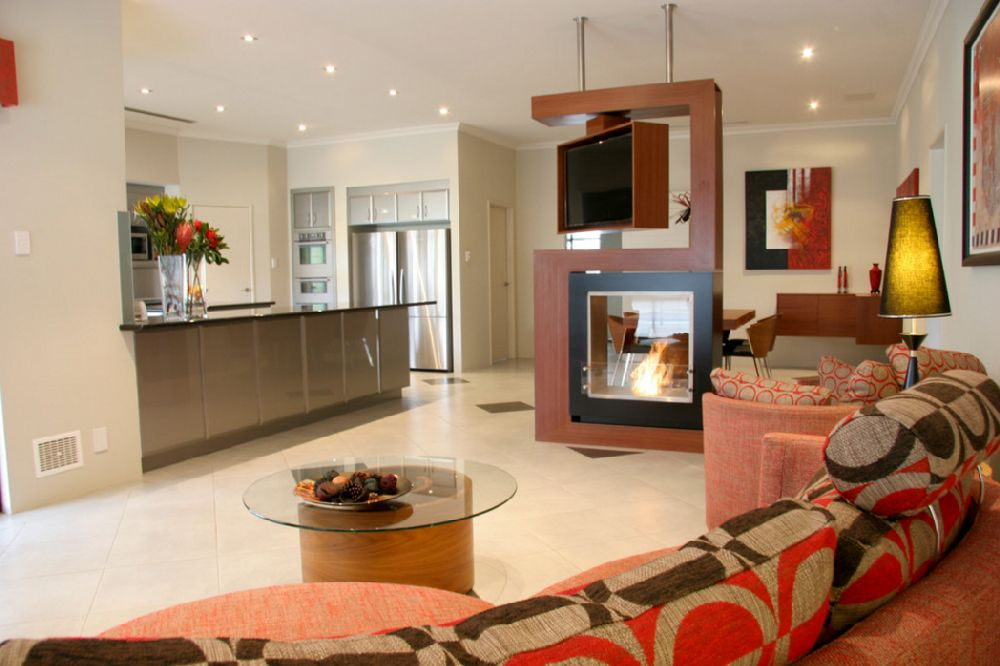 adelaparvu.com despre ansamblu de televizor si semineu pe acelasi perete, Foto Despina Design 2