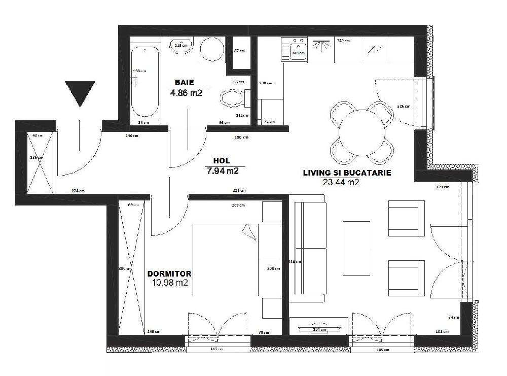 adelaparvu.com despre apartament 2 camere, 48 mp, decor marin, design interior Dream Home, Foto Drako Studio (28)
