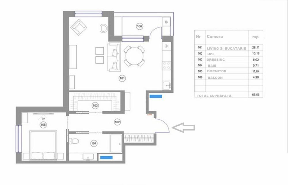 adelaparvu.com despre apartament 2 camere, 65 mp, cu loc de dressing, designer de interior Zhenya Zhdanova (21)