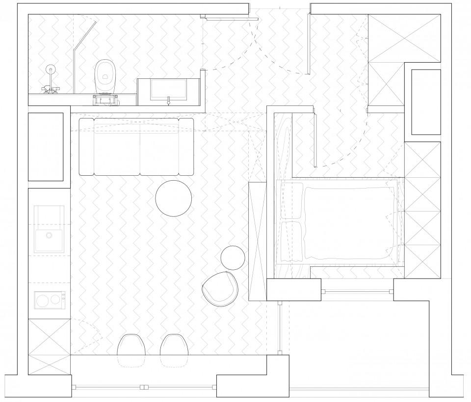 adelaparvu.com despre apartament 2 camre, 40 mp, design Studio 081 Architekci, Foto 081 Architekci (1)