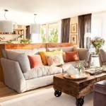 adelaparvu.com despre apartament cu camere separate de usi glisante, designer Pia Capdevila, Foto ElMueble (13)