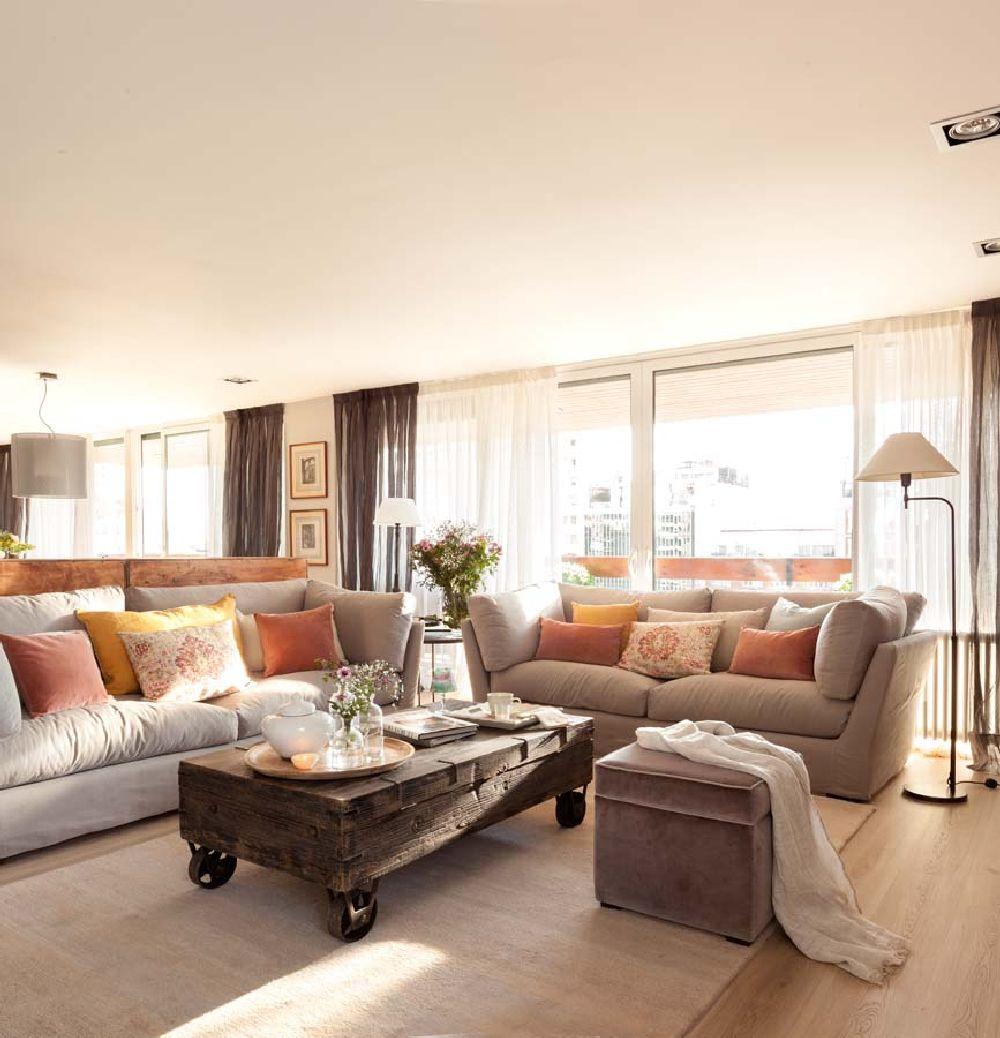 adelaparvu.com despre apartament cu camere separate de usi glisante, designer Pia Capdevila, Foto ElMueble (17)