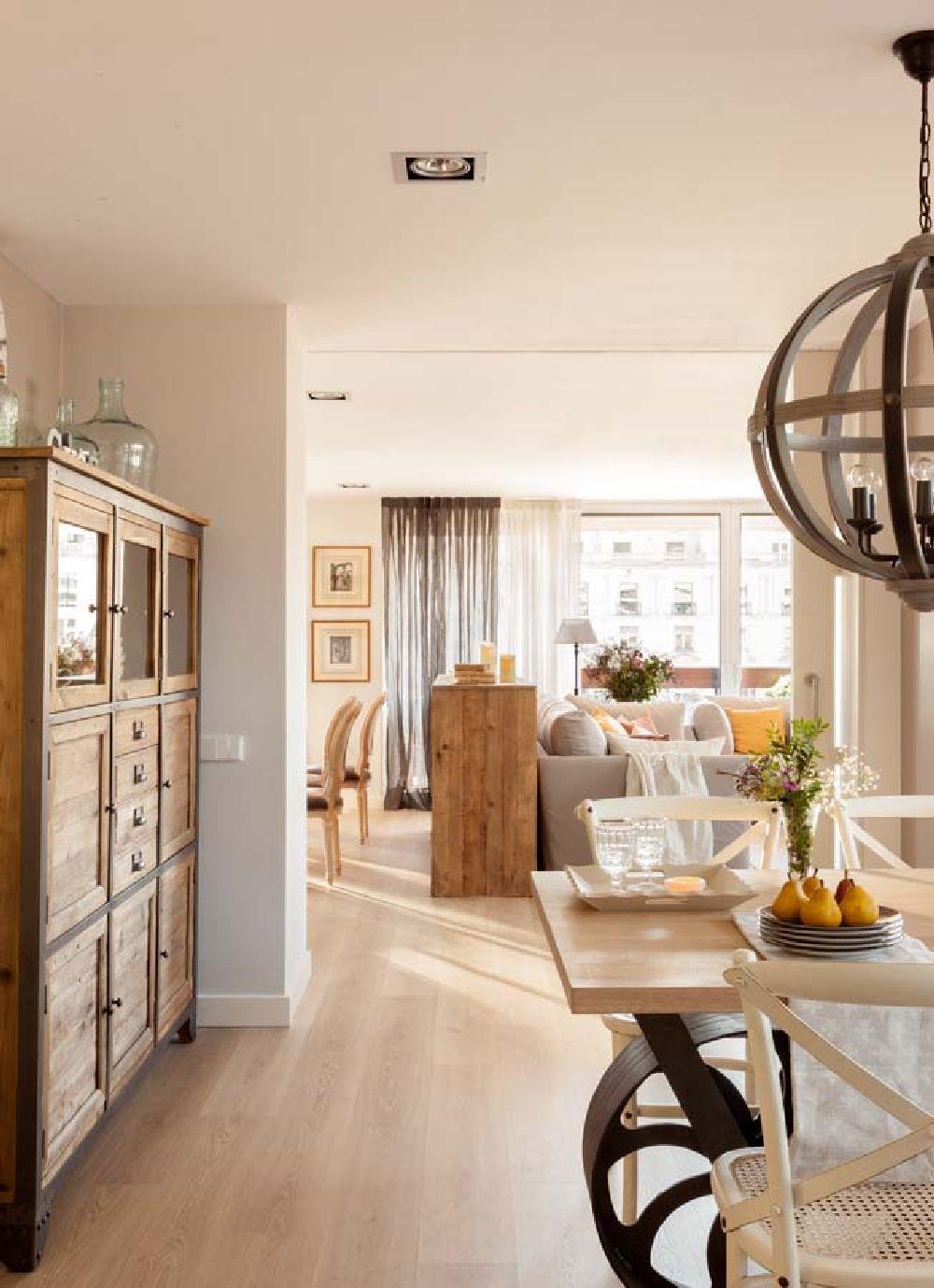 adelaparvu.com despre apartament cu camere separate de usi glisante, designer Pia Capdevila, Foto ElMueble (2)