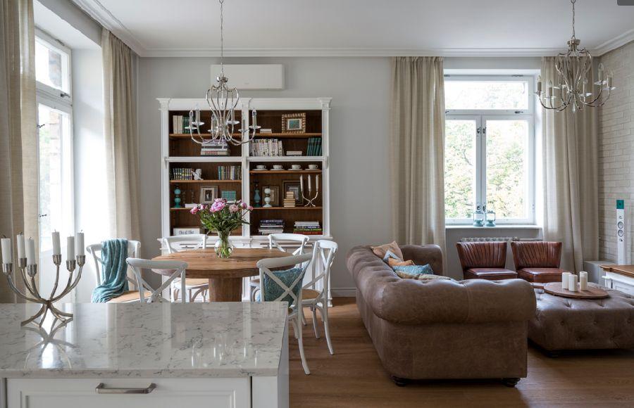 adelaparvu.com despre apartament de 80 mp patrati cu aer rustic elegant, locuinta Rusia, designer Zhenya Zhdanova (1)