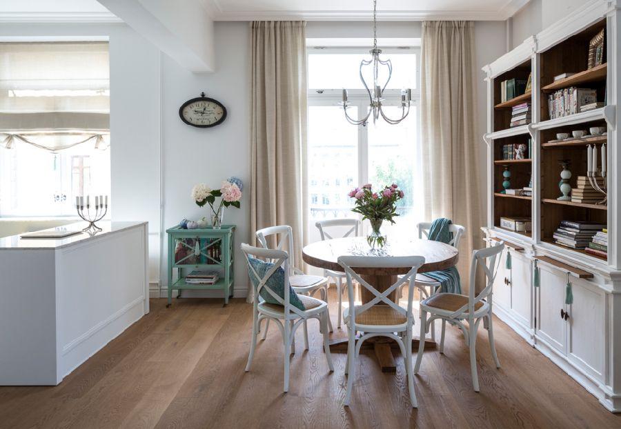 adelaparvu.com despre apartament de 80 mp patrati cu aer rustic elegant, locuinta Rusia, designer Zhenya Zhdanova (2)