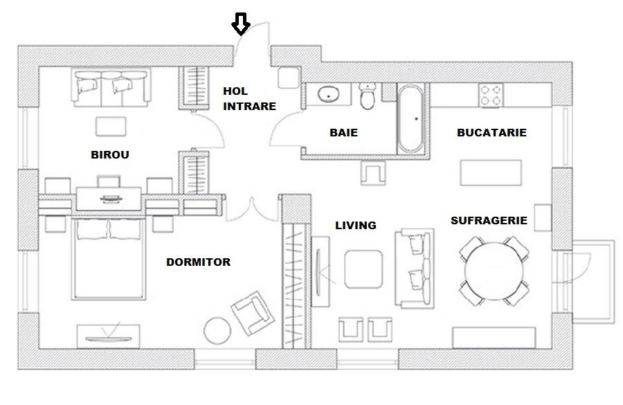 adelaparvu.com despre apartament de 80 mp patrati cu aer rustic elegant, locuinta Rusia, designer Zhenya Zhdanova (26)