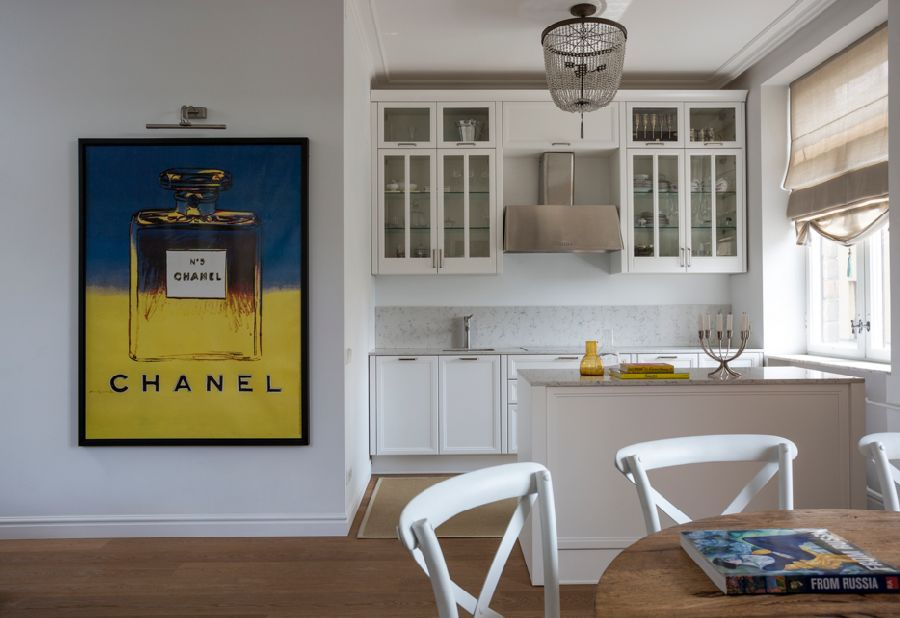 adelaparvu.com despre apartament de 80 mp patrati cu aer rustic elegant, locuinta Rusia, designer Zhenya Zhdanova (5)