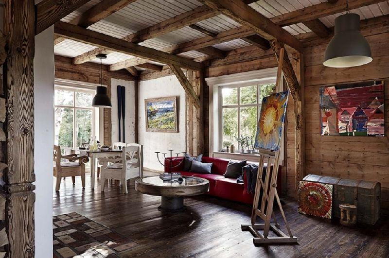 adelaparvu.com despre casa construita din lemn vechi, casa Polonia, Foto Weranda Country (10)