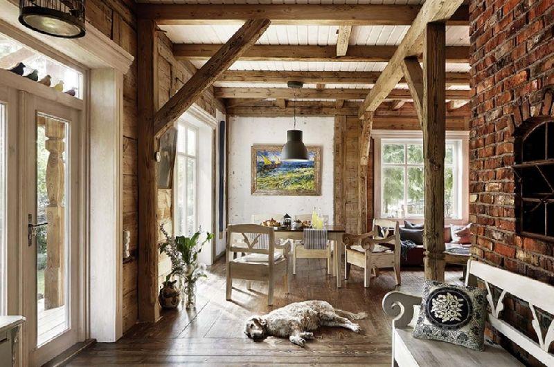adelaparvu.com despre casa construita din lemn vechi, casa Polonia, Foto Weranda Country (9)