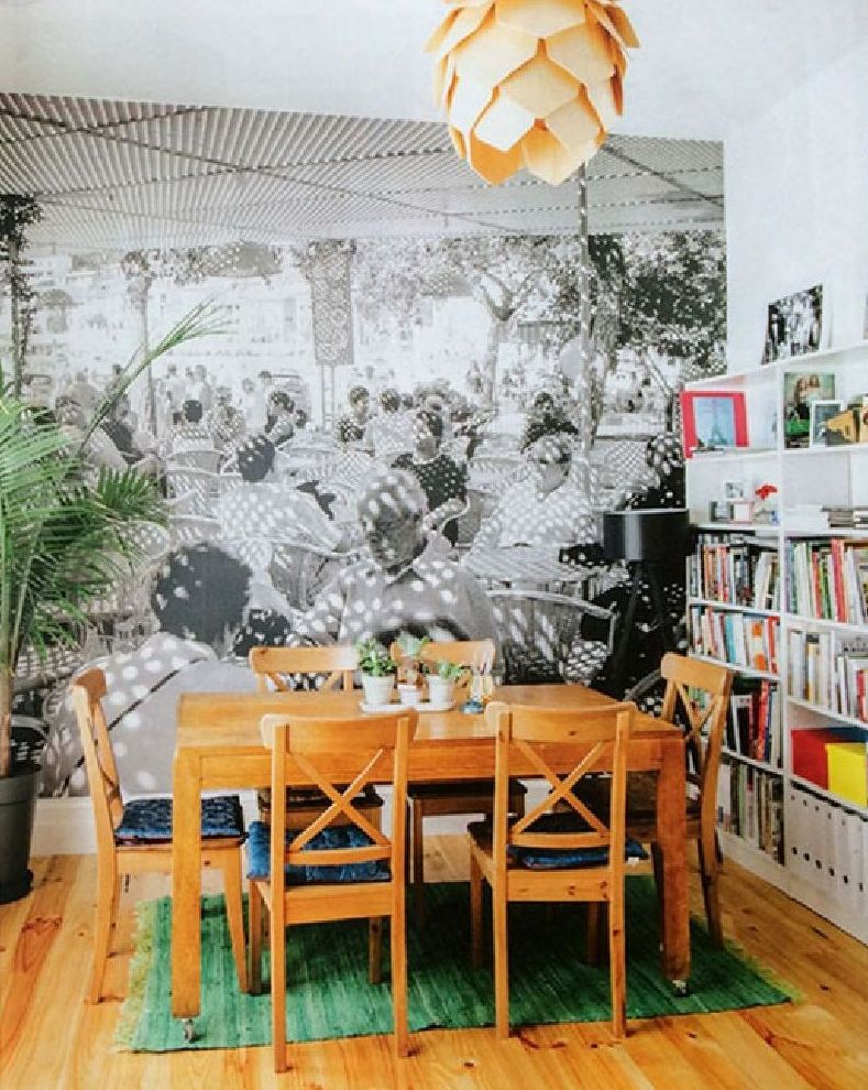 adelaparvu.com despre fototapet cu terasa in sufragerie, Fototapet Aldona Kmiec, Foto Kim Selby