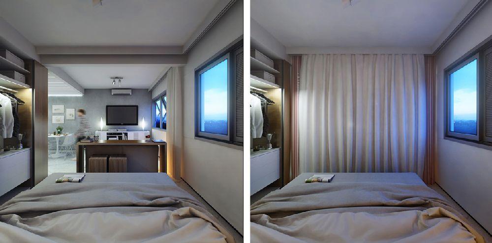 adelaparvu.com despre garsoniera 29 mp, design interior arh. Felipe Campolina (2)