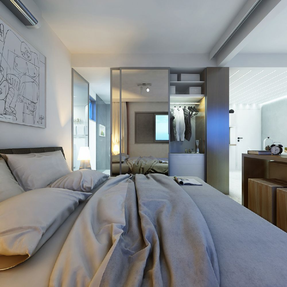 adelaparvu.com despre garsoniera 29 mp, design interior arh. Felipe Campolina (6)
