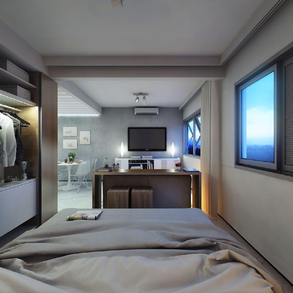 adelaparvu.com despre garsoniera 29 mp, design interior arh. Felipe Campolina (7)