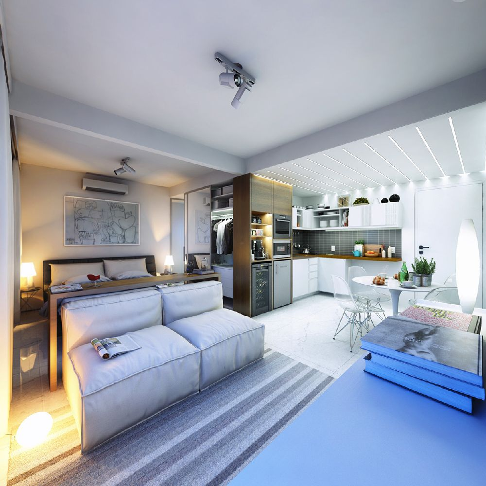 adelaparvu.com despre garsoniera 29 mp, design interior arh. Felipe Campolina (8)