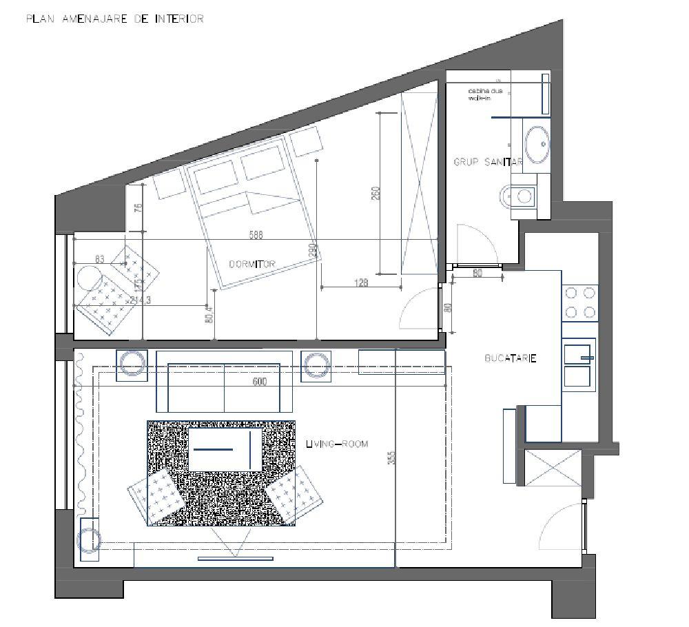 adelaparvu.com despre amenajare lux apartament 2 camere, 55 mp, Bucuresti, design interior arh Claudia Stefanescu, Foto Victor Oancea (23)