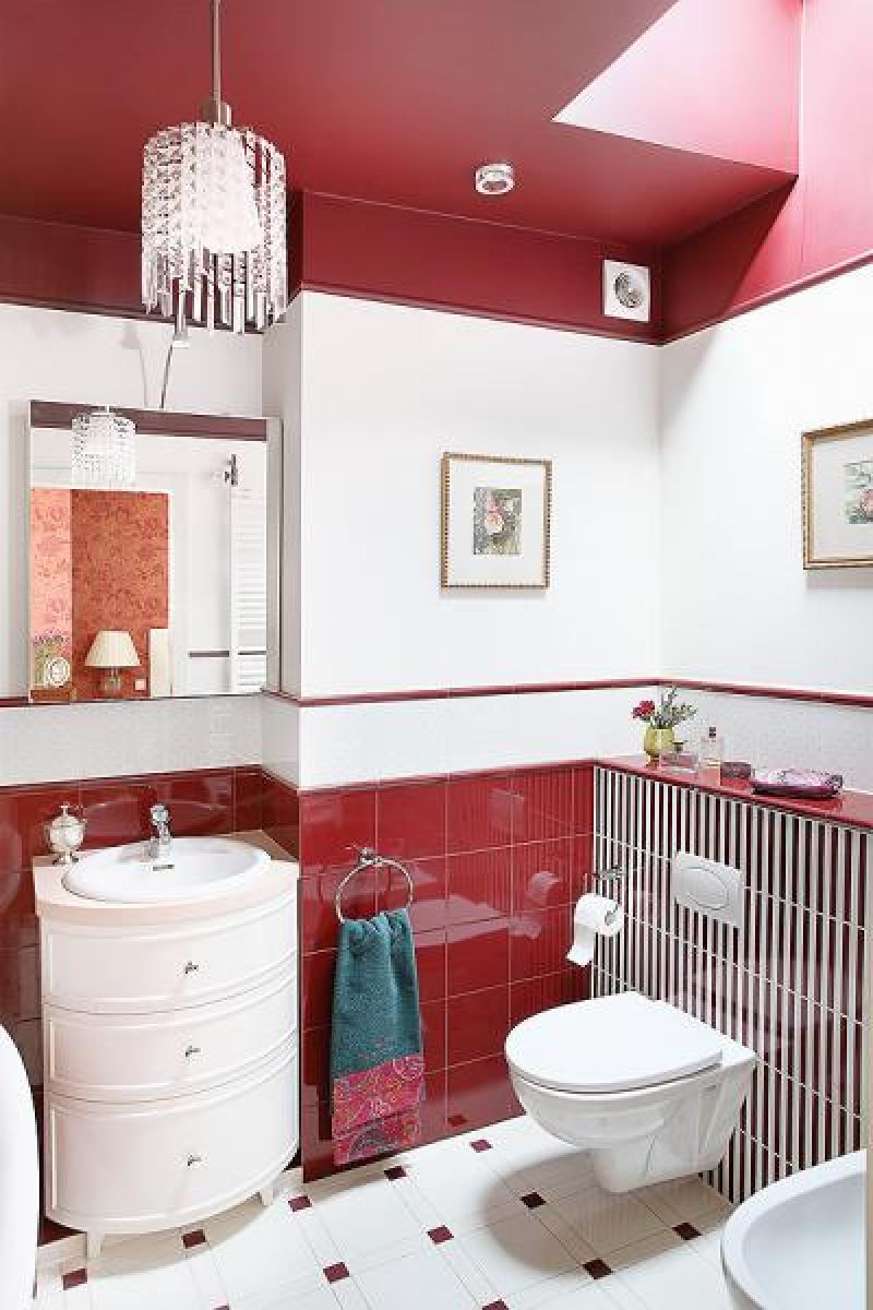 adelaparvu.com despre apartament 2 camere 55 mp, decor in rosu, design Holart Studio (2)