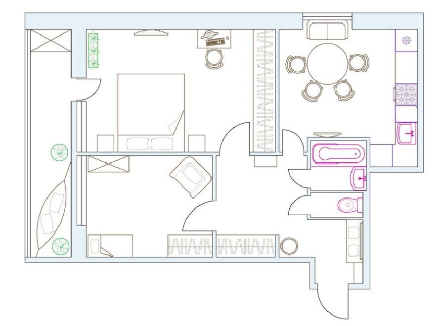 adelaparvu.com despre apartament 2 camere, 60 mp, designer interior Katya Tchistov, signer Foto OT Designer (30)