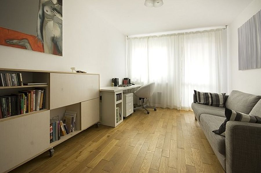 adelaparvu.com despre apartament 41 mp cu doua paturi matrimoniale, design interior arh Daria Pietryka (1)