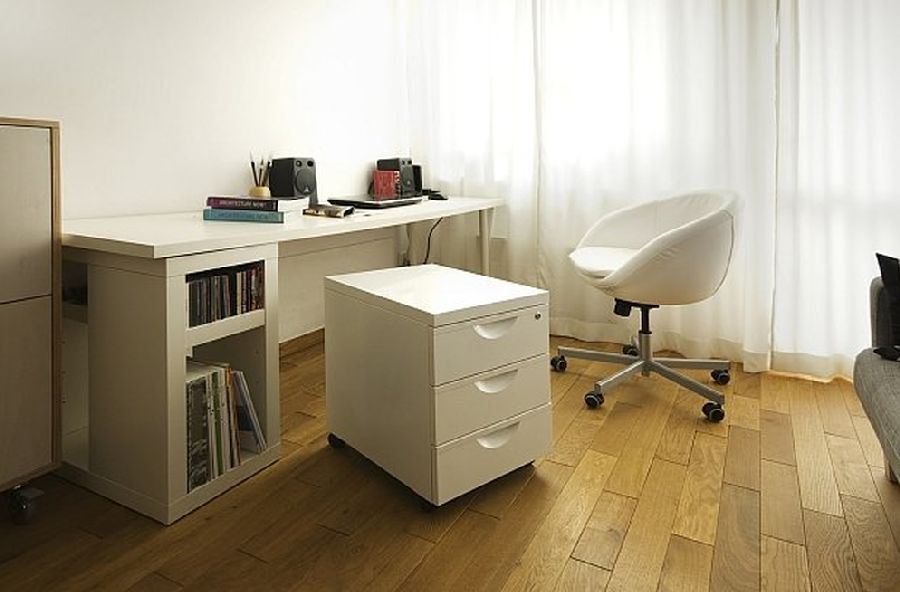 adelaparvu.com despre apartament 41 mp cu doua paturi matrimoniale, design interior arh Daria Pietryka (2)
