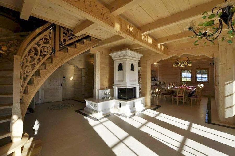 adelaparvu.com despre casa din lemn cu interior folcloric, casa Polonia, design interior Katarzyna Zachariasz-Rybak, k2 Studio (11)
