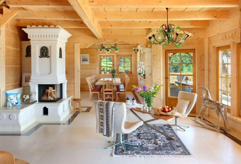 adelaparvu.com despre casa din lemn cu interior folcloric, casa Polonia, design interior Katarzyna Zachariasz-Rybak, k2 Studio (2)