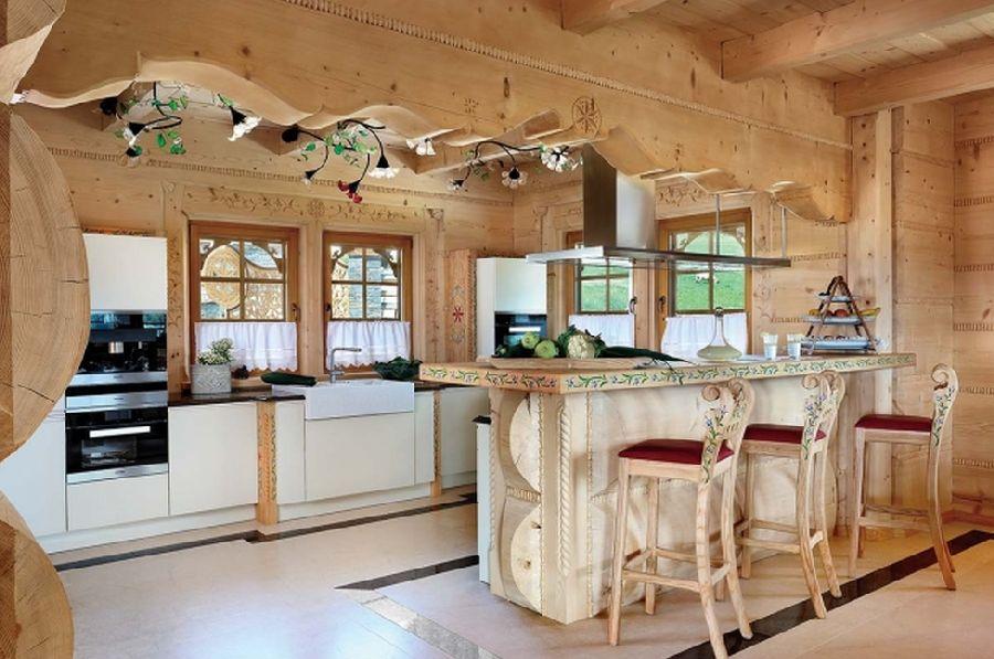 adelaparvu.com despre casa din lemn cu interior folcloric, casa Polonia, design interior Katarzyna Zachariasz-Rybak, k2 Studio (20)