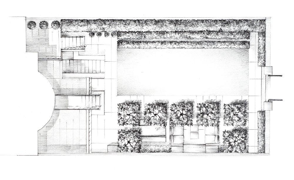 adelaparvu.com despre gradini mici si elegante, Gradina Notting Hill, designer Luciano Giubbilei (6)