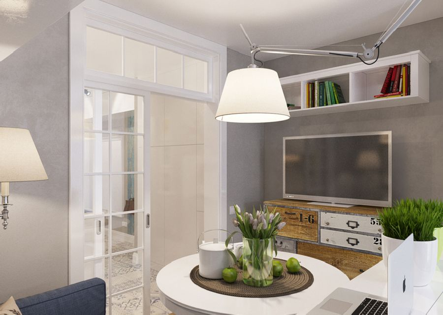 adelaparvu.com despre proiect garsoniera 25 mp, spatiu lung si ingust, design interior Zukkini (3)