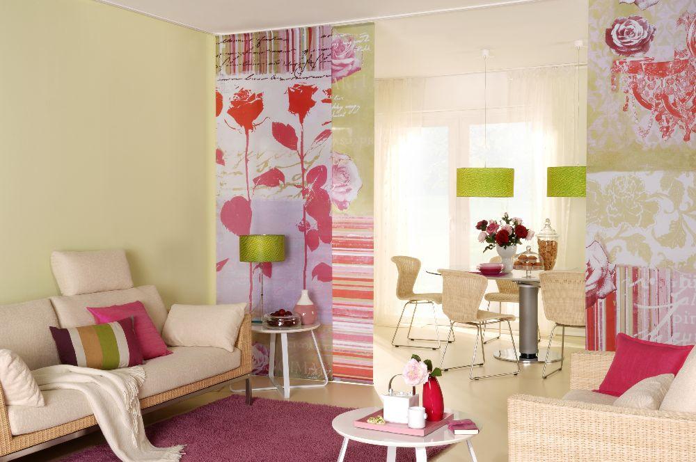 adelaparvu.com despre separare si decorare cu draperii panou, Foto Teba (1)