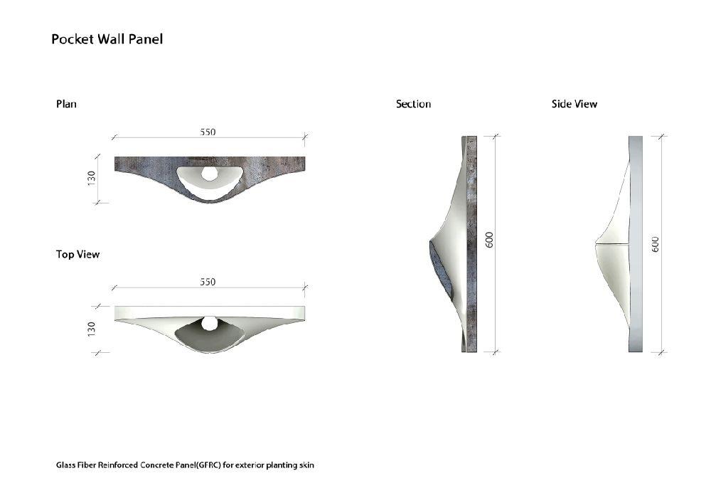 adelaparvu.com fatada cu ghivece de flori, Pocket Panel, design OA LAB (4)