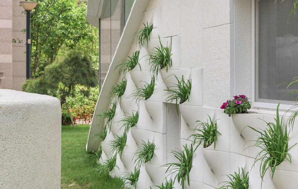 adelaparvu.com fatada cu ghivece de flori, Pocket Panel, design OA LAB (6)