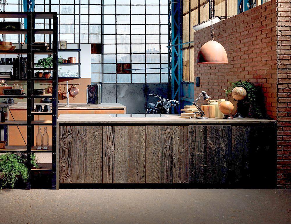 adelaparvu.com despre bucatarii in stil industrial, colectia Factory Aster Cucine (32)