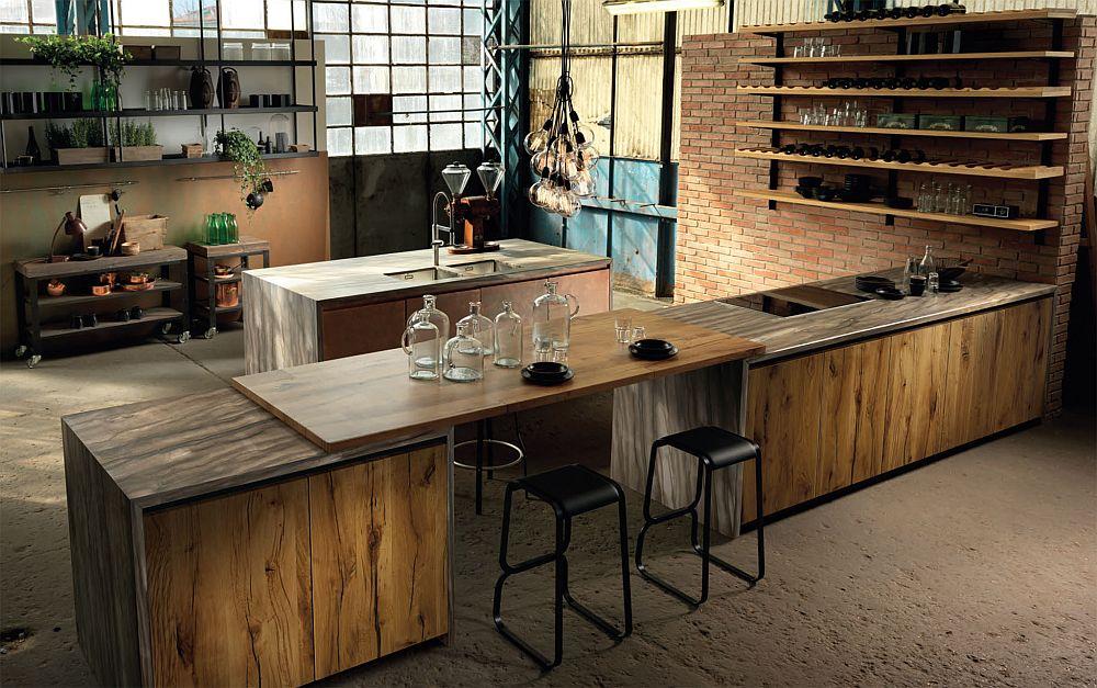 adelaparvu.com despre bucatarii in stil industrial, colectia Factory Aster Cucine (42)