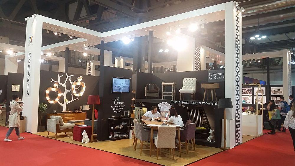 adelaparvu.com despre firme romanesti de mobila la Salone del Mobile Milano 2016, stand Quadra Furniture (2)
