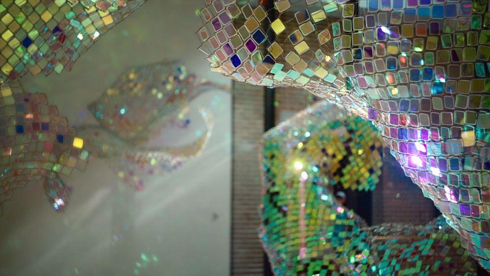 adelaparvu.com despre gard de sarma ca opera de arata, Unwoven Light, artist Soo Sunny Park , Rice University Art Gallery (10)