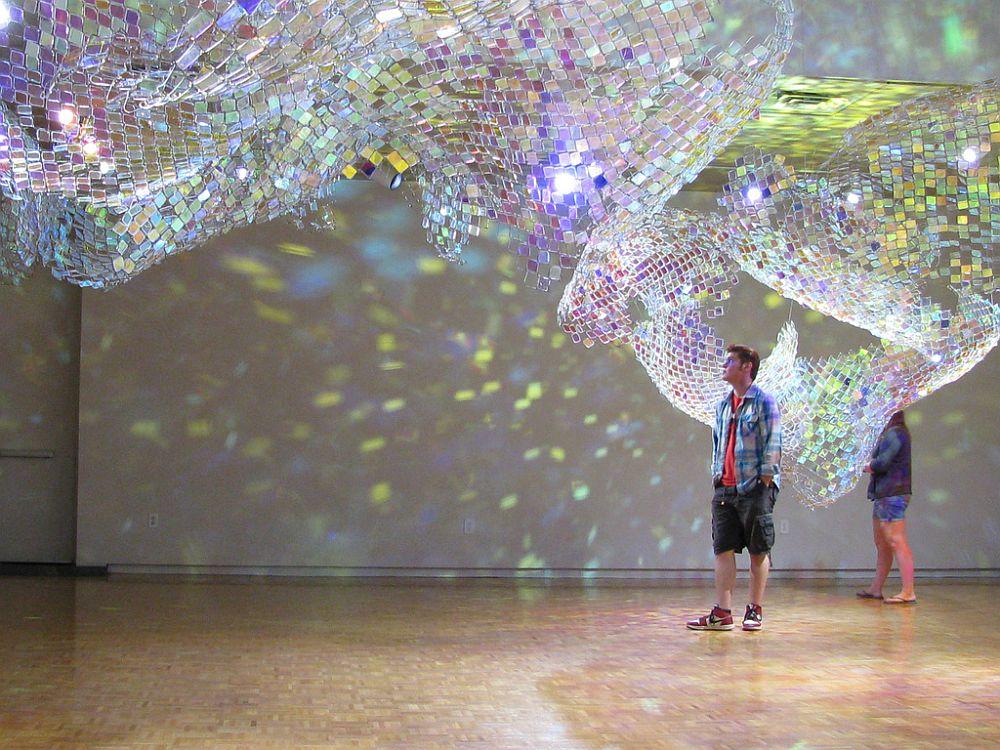 adelaparvu.com despre gard de sarma ca opera de arata, Unwoven Light, artist Soo Sunny Park , Rice University Art Gallery (3)