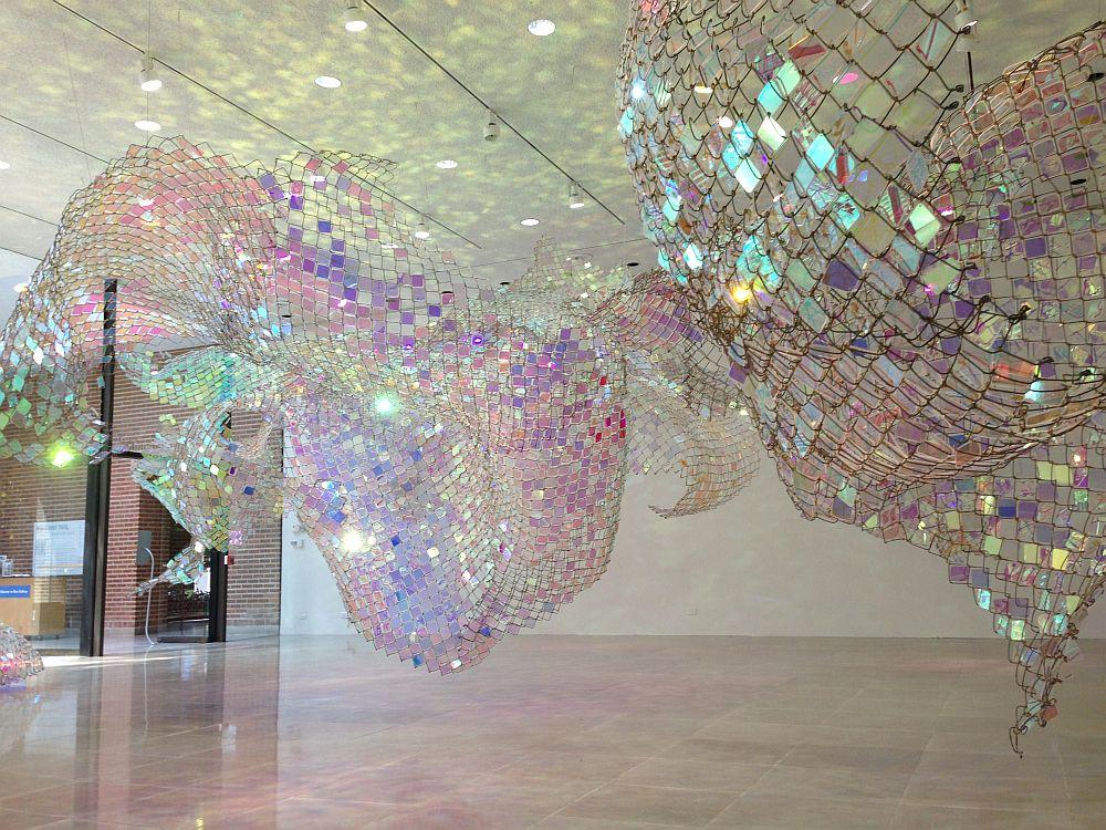 adelaparvu.com despre gard de sarma ca opera de arata, Unwoven Light, artist Soo Sunny Park , Rice University Art Gallery (4)