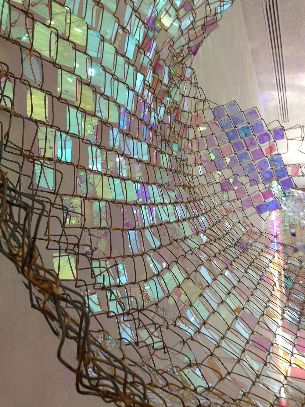 adelaparvu.com despre gard de sarma ca opera de arata, Unwoven Light, artist Soo Sunny Park , Rice University Art Gallery (5)
