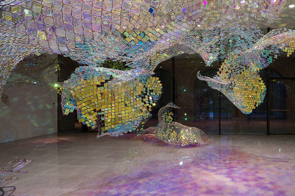 adelaparvu.com despre gard de sarma ca opera de arata, Unwoven Light, artist Soo Sunny Park , Rice University Art Gallery (8)