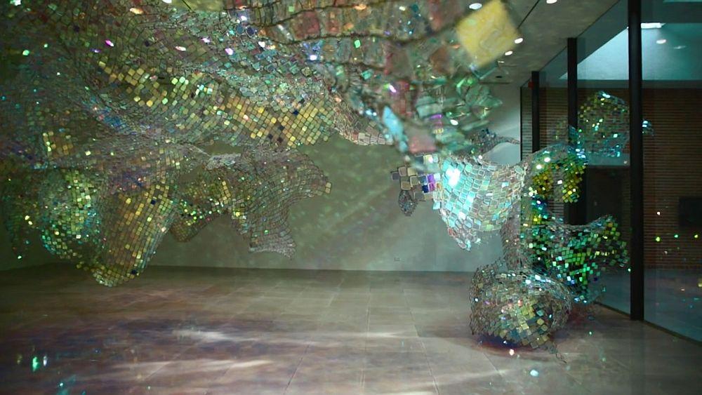 adelaparvu.com despre gard de sarma ca opera de arta, Unwoven Light, artist Soo Sunny Park , Rice University Art Gallery (3)