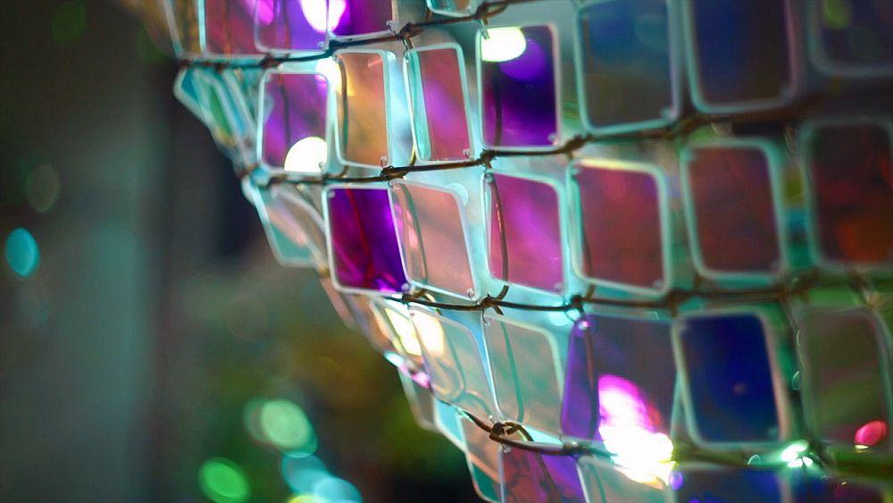 adelaparvu.com despre gard de sarma ca opera de arta, Unwoven Light, artist Soo Sunny Park , Rice University Art Gallery (4)