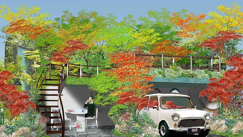 adelaparvu.com despre Garage Garden, Senri Sensei Garden, peisagist Kazuyuki Ishihara (2)