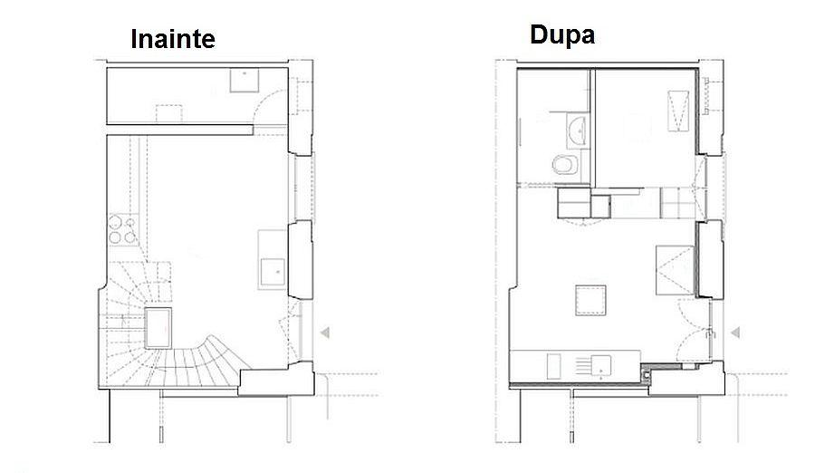 adelaparvu.com despre bucatarie 24 mp transformata in garsoniera, design arh. Anne Rolland, Plan (8)