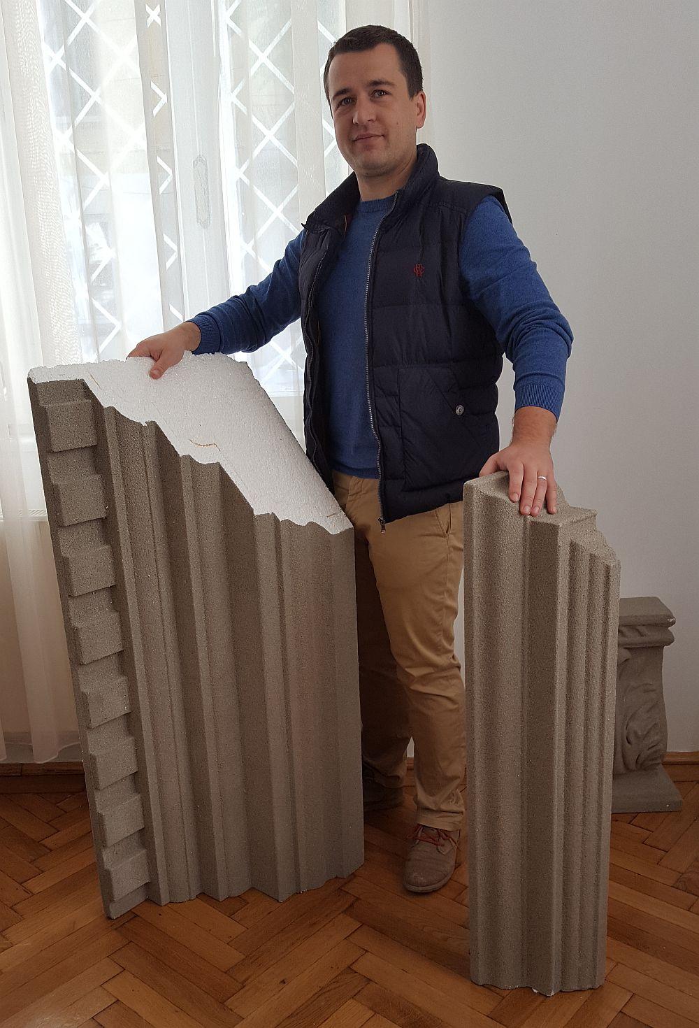 adelaparvu.com despre fatade exterioare redecorate cu profile decorative, lucrare CoArtCo, cornise dimensiuni (1)