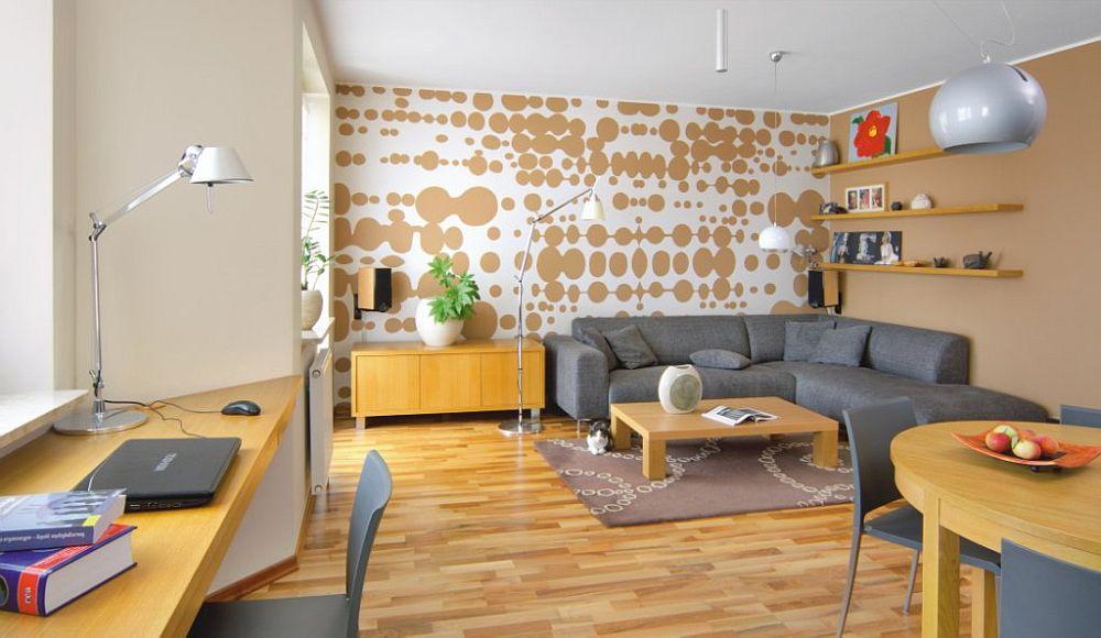 adelaparvu.com despre living cu birou si loc de masa, design Kreativa, Foto Rafal Lipski (3)