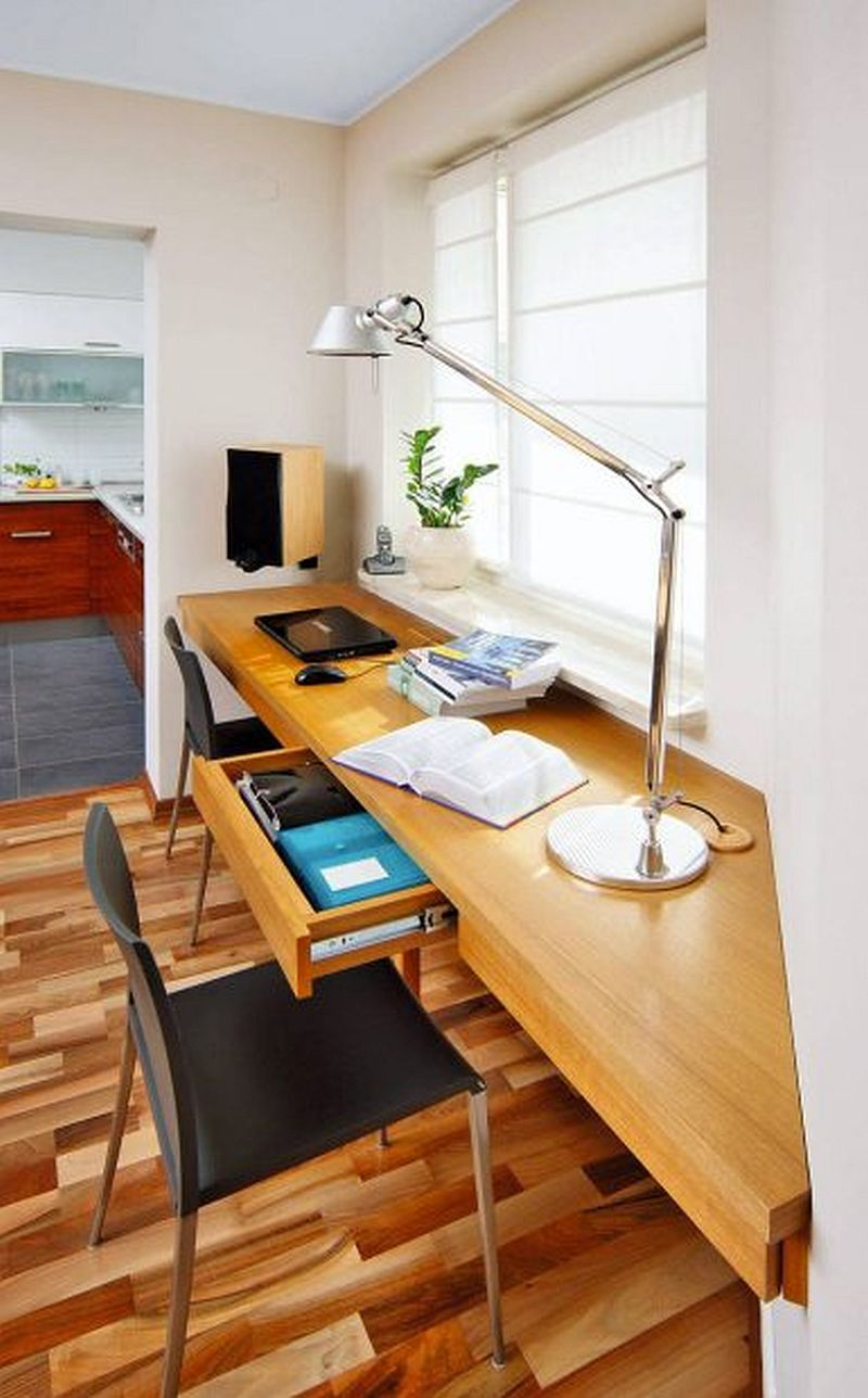adelaparvu.com despre living cu birou si loc de masa, design Kreativa, Foto Rafal Lipski (5)