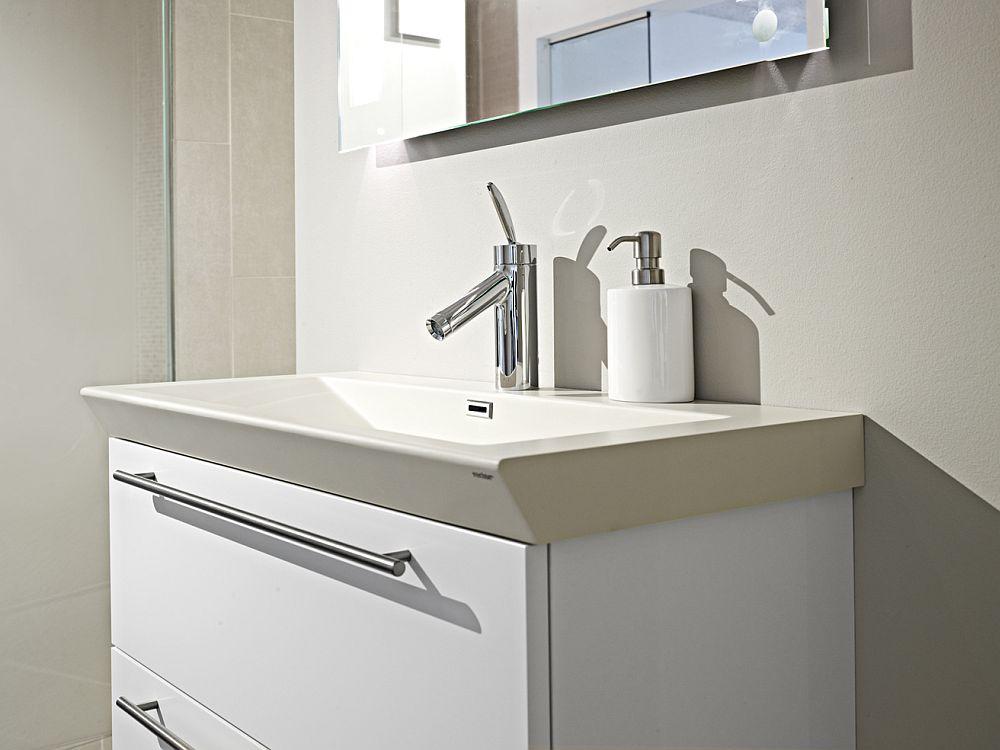 adelaparvu.com despre mobilier baie Kuma, in foto Concept KUMA pentru bai mici, lavoar RECTOR