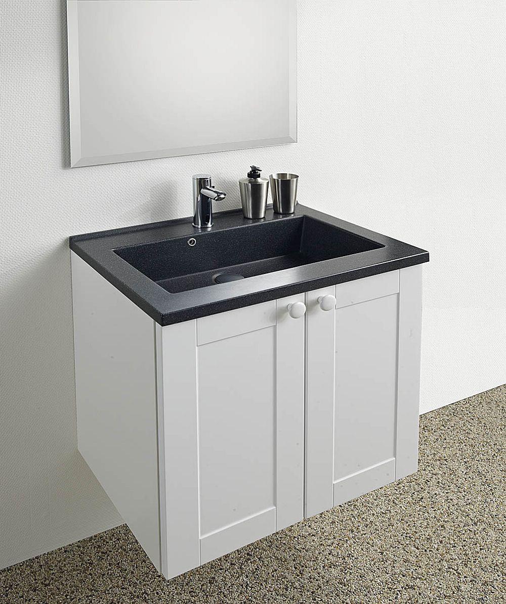 adelaparvu.com despre mobilier baie Kuma, in foto concept KUMA pentru bai mici, lavoar SQUARE 50